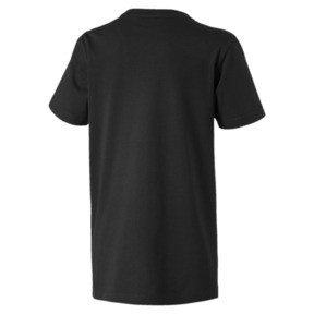 Thumbnail 2 of Boys' Alpha Graphic Tee, Puma Black, medium