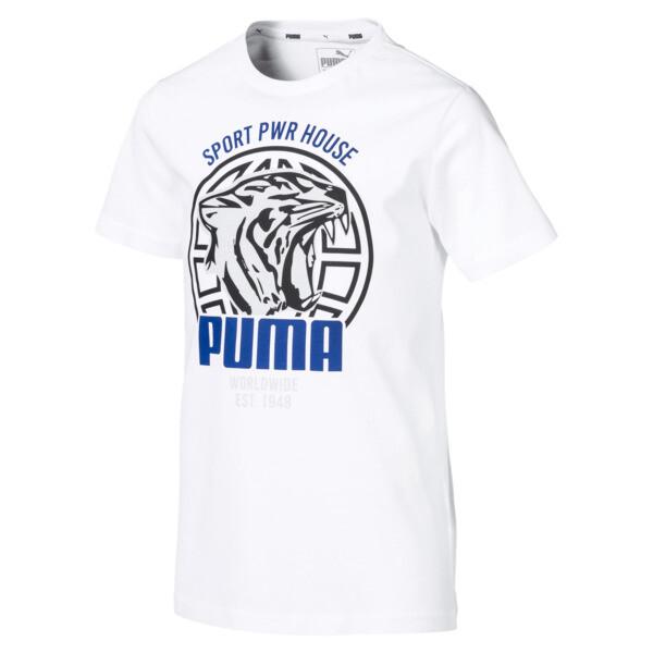 c0492eef Boys' Alpha Graphic Tee   Puma White   PUMA Shoes   PUMA Italia