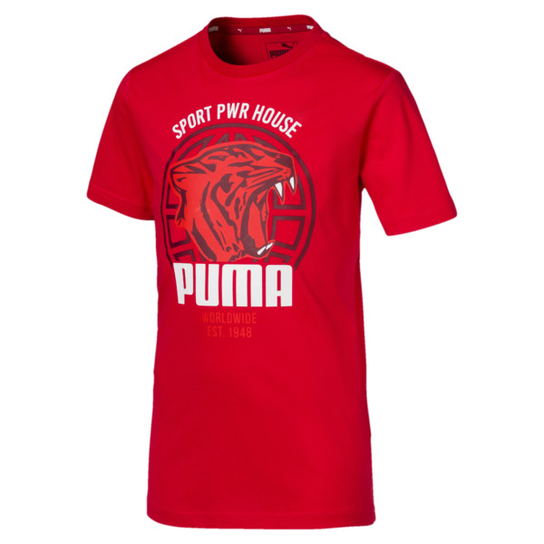 d1c3536d Boys' Alpha Graphic Tee   High Risk Red   PUMA Shoes   PUMA Italia