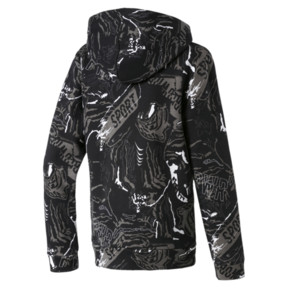 Thumbnail 2 of Boys' Alpha Hoodie, Puma Black, medium