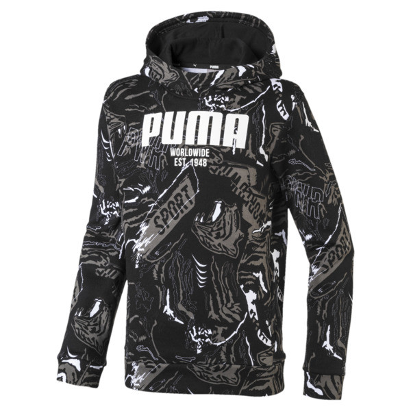 Boys' Alpha Hoodie, Puma Black, large