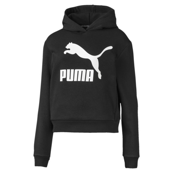 4a59741e5c01e2 Damska bluza z kapturem Classics Logo | Puma Black | Buty PUMA ...
