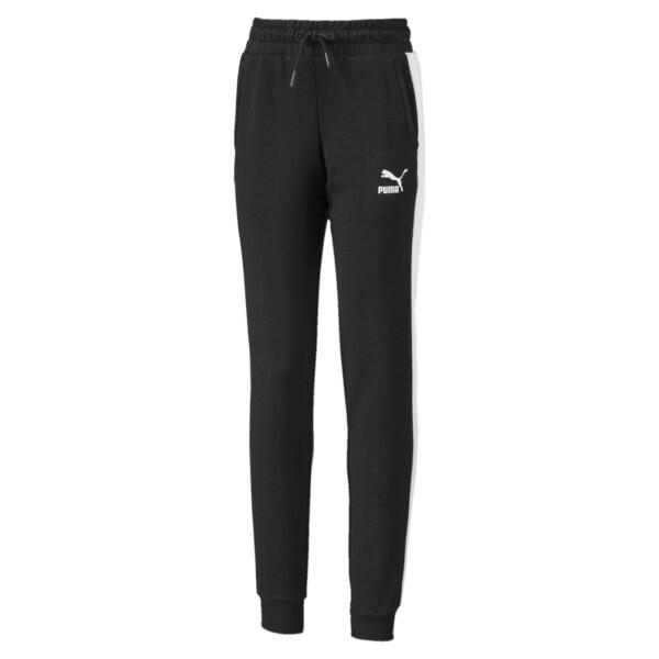 Pantalones deportivosClassicsT7 para niña joven, Puma Black, grande