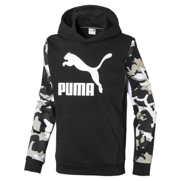 Sudadera con capucha clásica para niño, Puma Black, grande