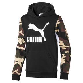 Miniatura 1 de Sudadera con capucha clásica para niño, Puma Black, mediano