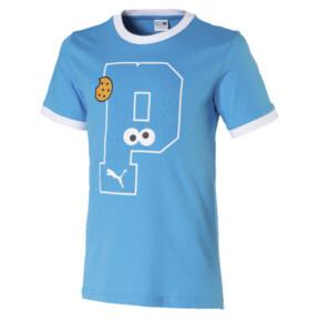 Thumbnail 1 of キッズ セサミストリート SS グラフィック Tシャツ (半袖), Bleu Azur, medium-JPN