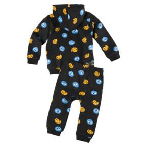 Thumbnail 2 of PUMA x SESAME STREET Infant + Toddler Two-Piece Jogger Set, Puma Black, medium