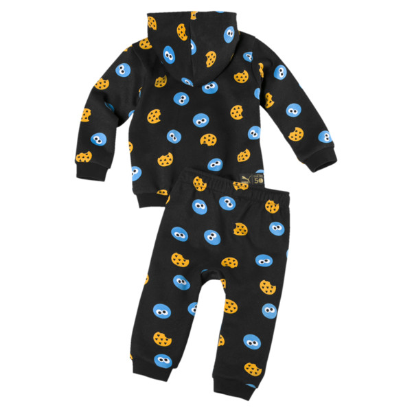PUMA x SESAME STREET Infant + Toddler Two-Piece Jogger Set, Puma Black, large