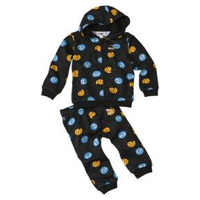 Thumbnail 1 of PUMA x SESAME STREET Infant + Toddler Two-Piece Jogger Set, Puma Black, medium