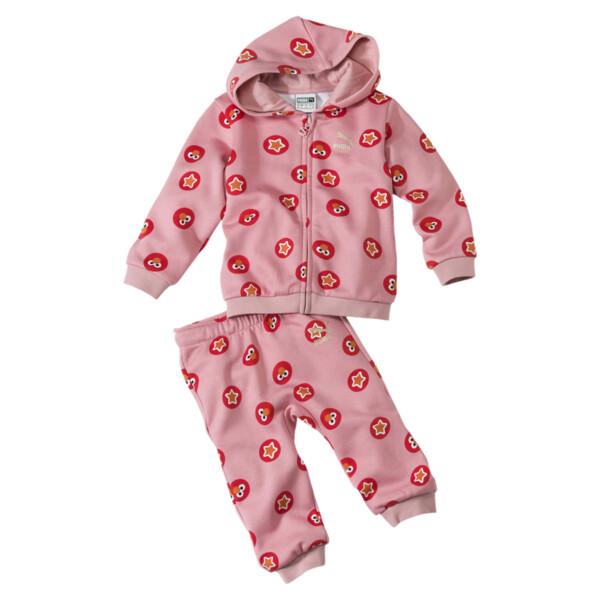 PUMA x SESAME STREET Infant + Toddler Two-Piece Jogger Set, Bridal Rose, large