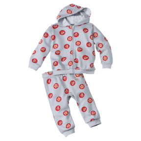 Thumbnail 1 of PUMA x SESAME STREET Infant + Toddler Two-Piece Jogger Set, Grey Dawn, medium