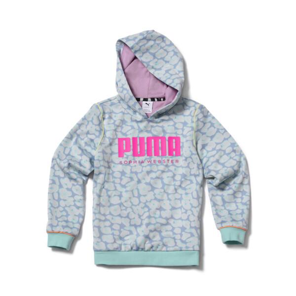 puma x sophia webster girls' hoodie in dream blue, size xxs