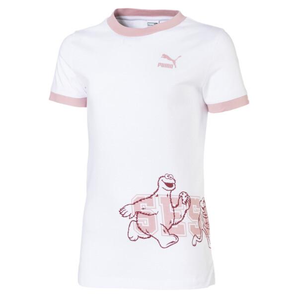 Camiseta de manga corta de niña Barrio Sésamo®, Puma White, grande