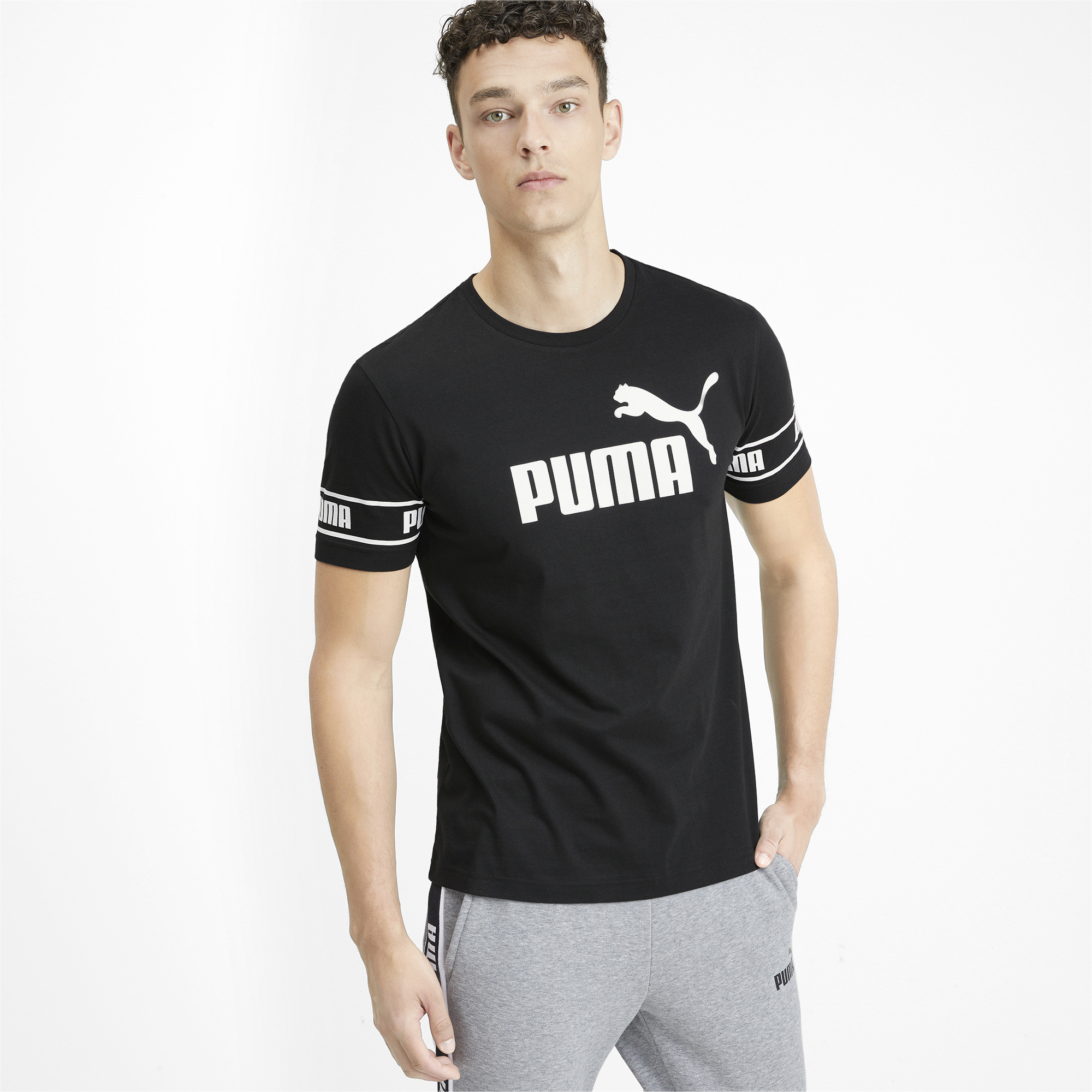 PUMA-Amplified-Men-039-s-Big-Logo-Tee-Men-Tee-Basics thumbnail 17