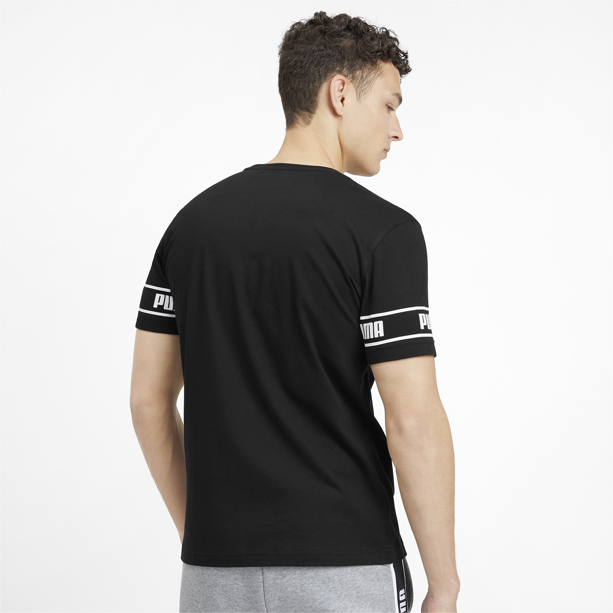 PUMA-Amplified-Men-039-s-Big-Logo-Tee-Men-Tee-Basics thumbnail 18