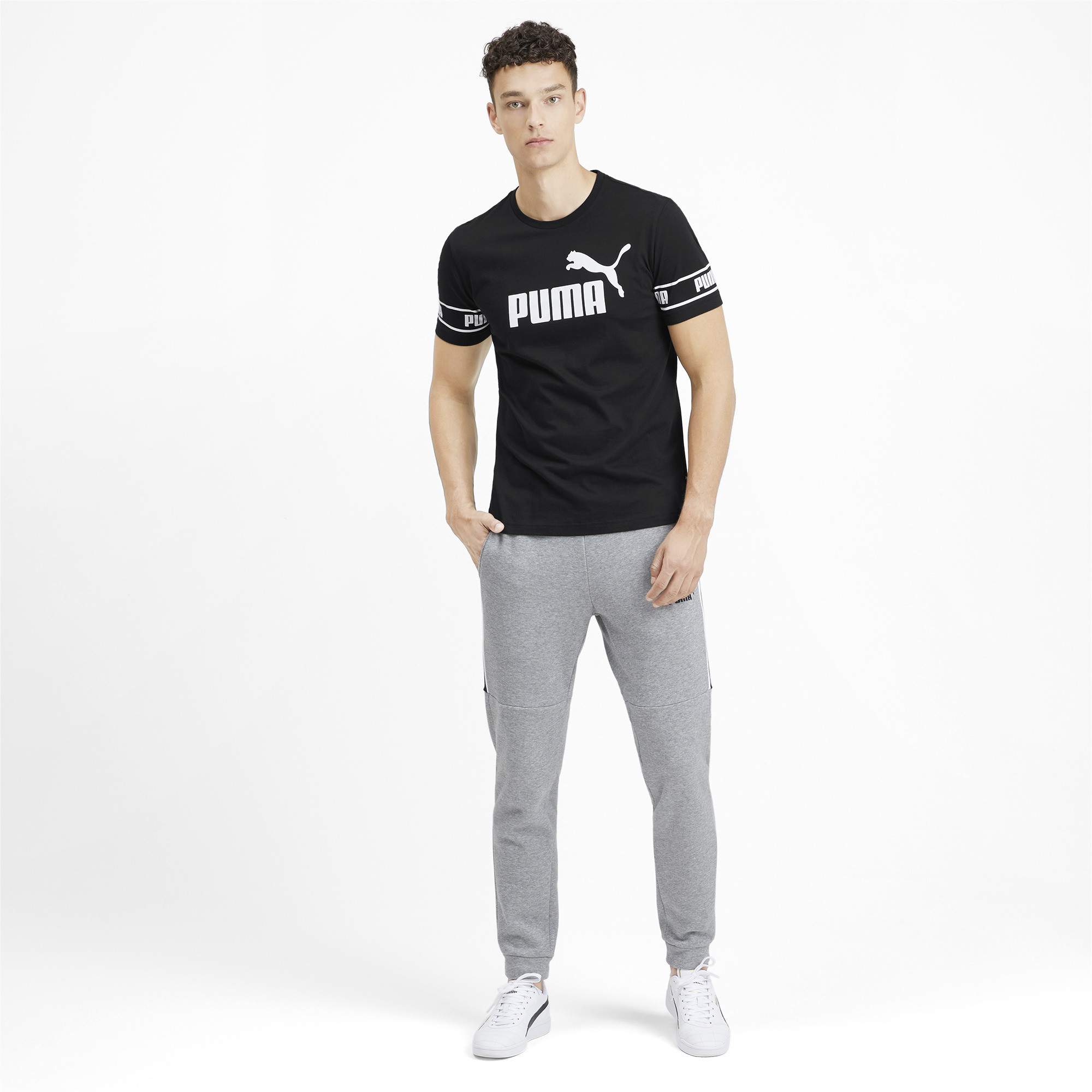 PUMA-Amplified-Men-039-s-Big-Logo-Tee-Men-Tee-Basics thumbnail 19