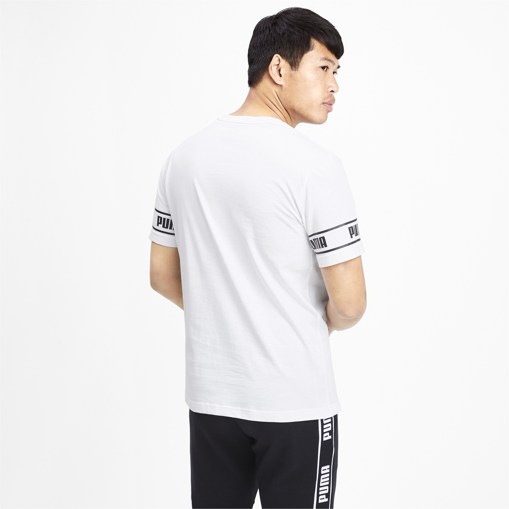 PUMA-Amplified-Men-039-s-Big-Logo-Tee-Men-Tee-Basics thumbnail 5