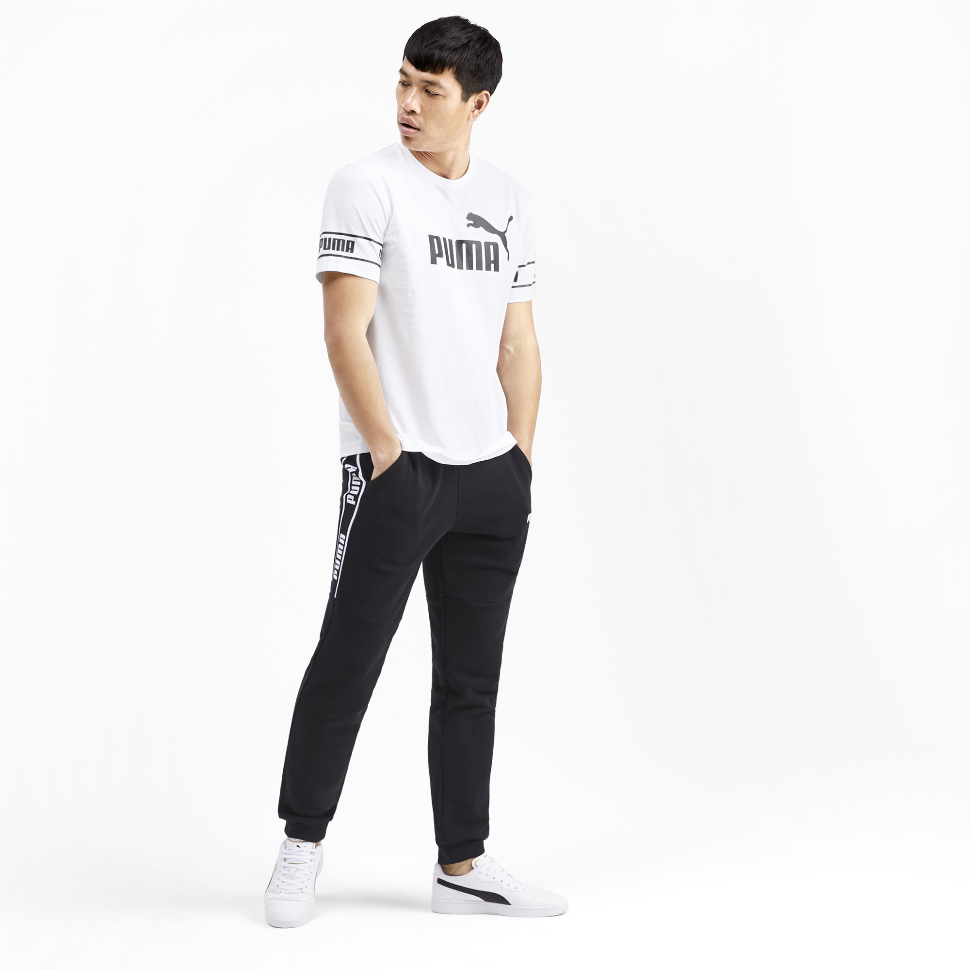 PUMA-Amplified-Men-039-s-Big-Logo-Tee-Men-Tee-Basics thumbnail 6