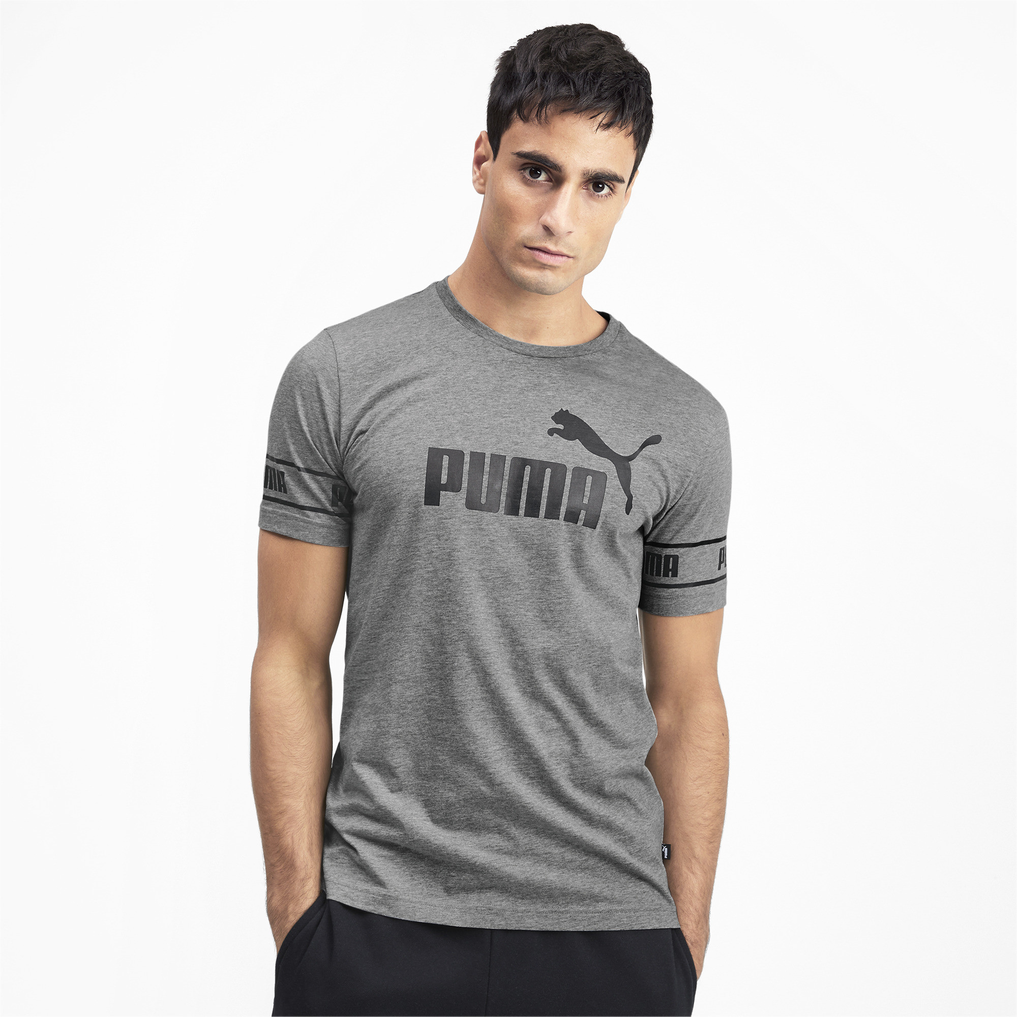PUMA-Amplified-Men-039-s-Big-Logo-Tee-Men-Tee-Basics thumbnail 9