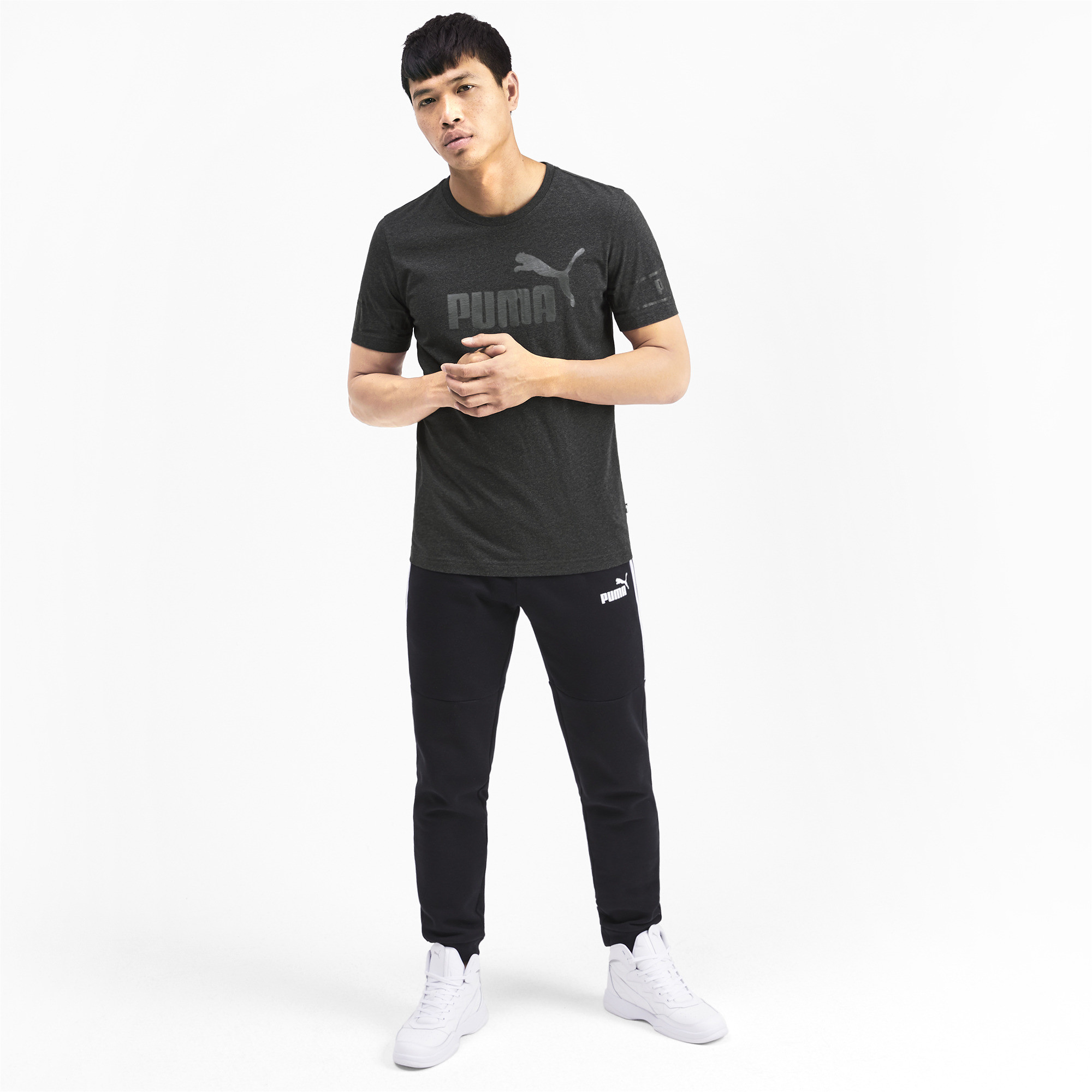 PUMA-Amplified-Men-039-s-Big-Logo-Tee-Men-Tee-Basics thumbnail 24