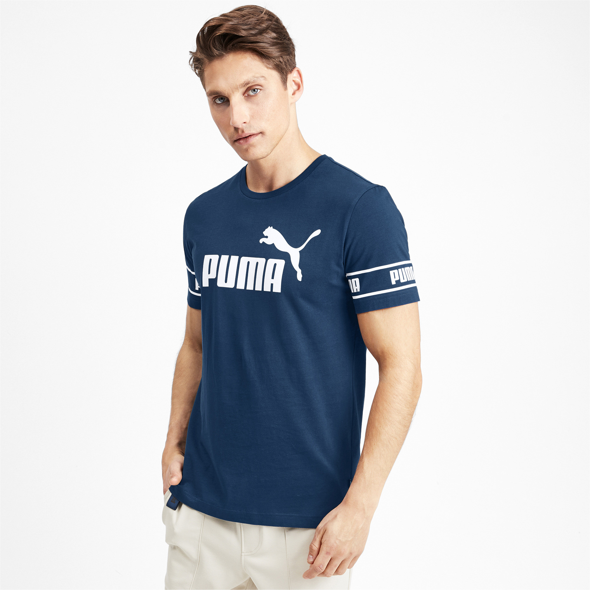 PUMA-Amplified-Men-039-s-Big-Logo-Tee-Men-Tee-Basics thumbnail 27
