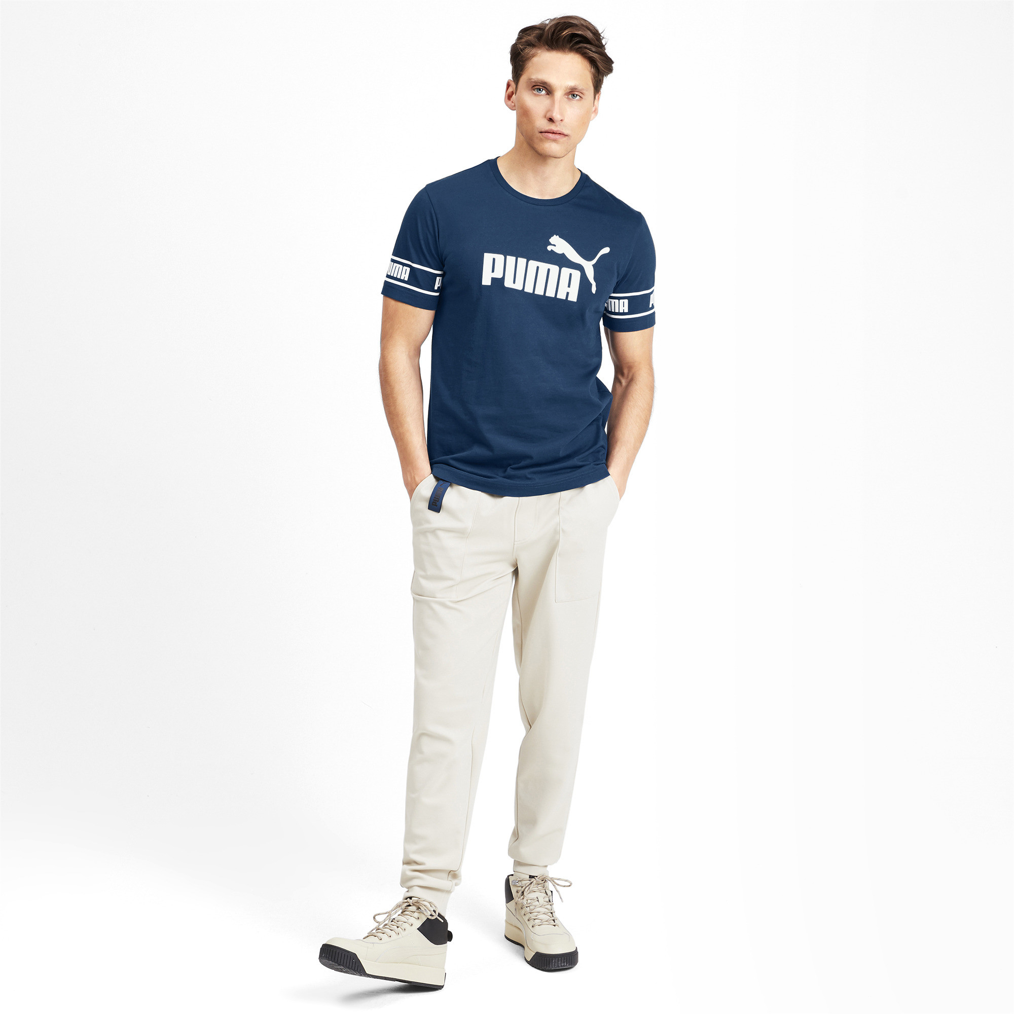 PUMA-Amplified-Men-039-s-Big-Logo-Tee-Men-Tee-Basics thumbnail 29