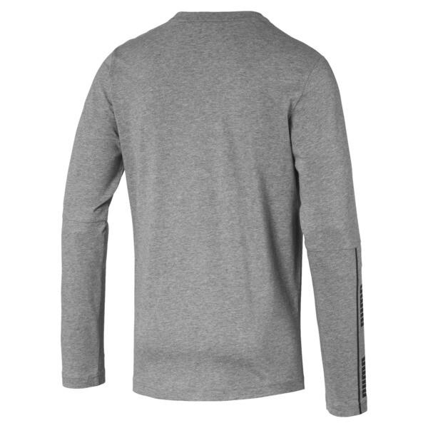 Camiseta de mangas largas Amplified para hombre, Medium Gray Heather, grande