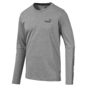 Miniatura 1 de Camiseta de mangas largas Amplified para hombre, Medium Gray Heather, mediano