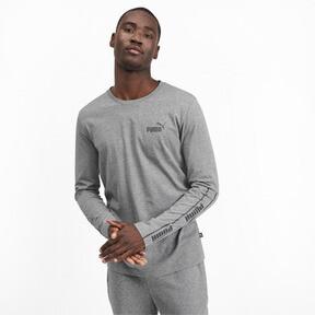 Miniatura 2 de Camiseta de mangas largas Amplified para hombre, Medium Gray Heather, mediano