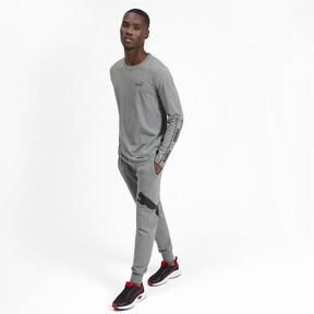 Miniatura 4 de Camiseta de mangas largas Amplified para hombre, Medium Gray Heather, mediano