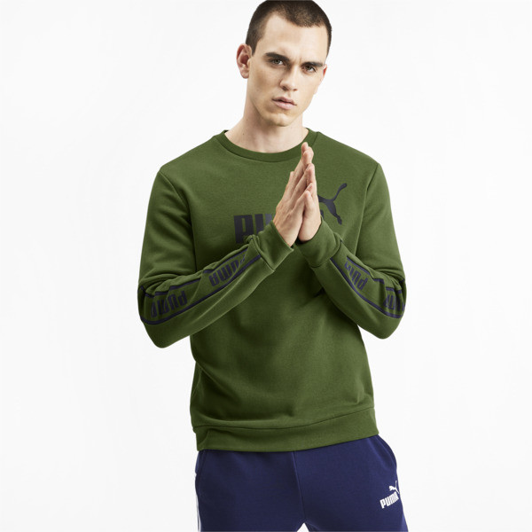 Amplified Long Sleeve Sweater voor Heren, Groen | PUMA