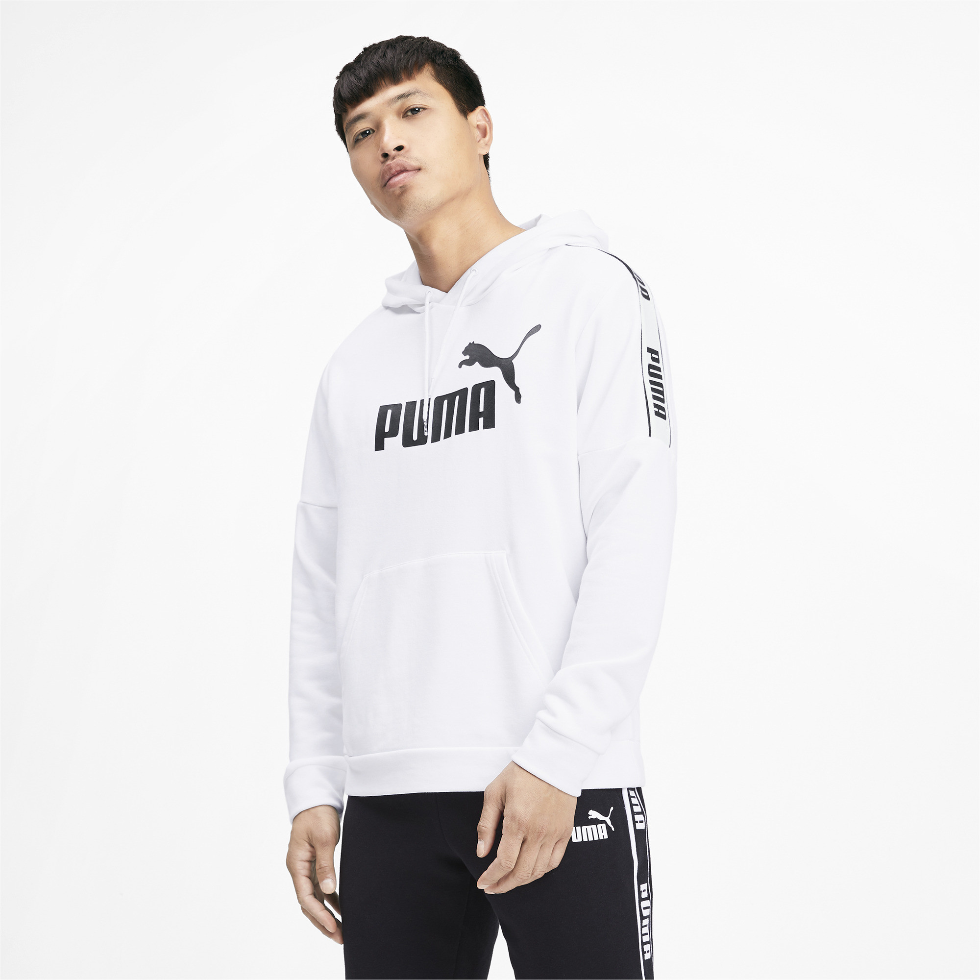 PUMA-Amplified-Men-039-s-Hoodie-Men-Sweat-Basics thumbnail 4