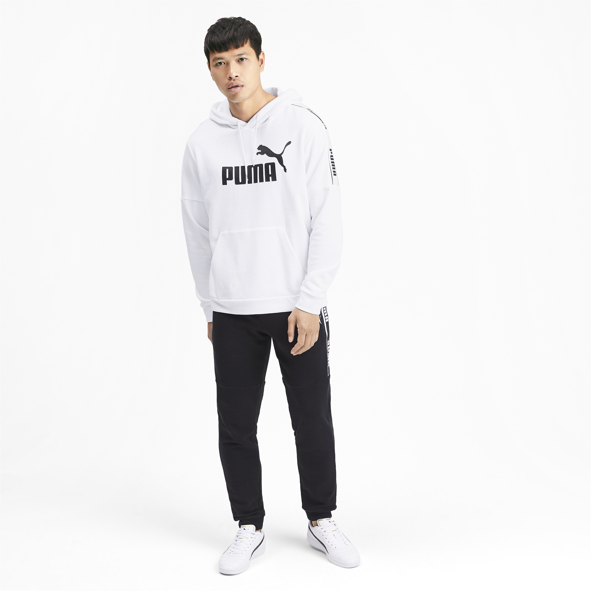 PUMA-Amplified-Men-039-s-Hoodie-Men-Sweat-Basics thumbnail 6