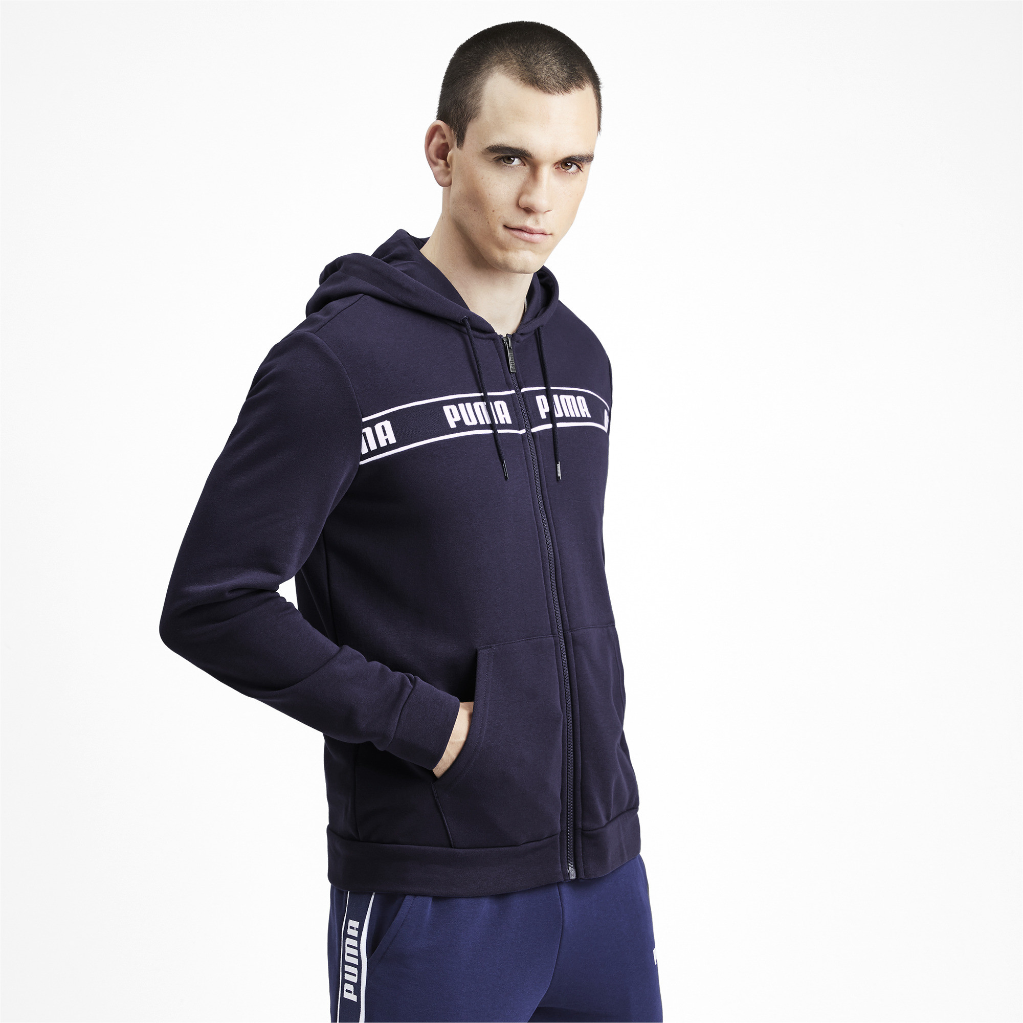 PUMA-Amplified-Men-039-s-Hooded-Jacket-Men-Sweat-Basics thumbnail 4