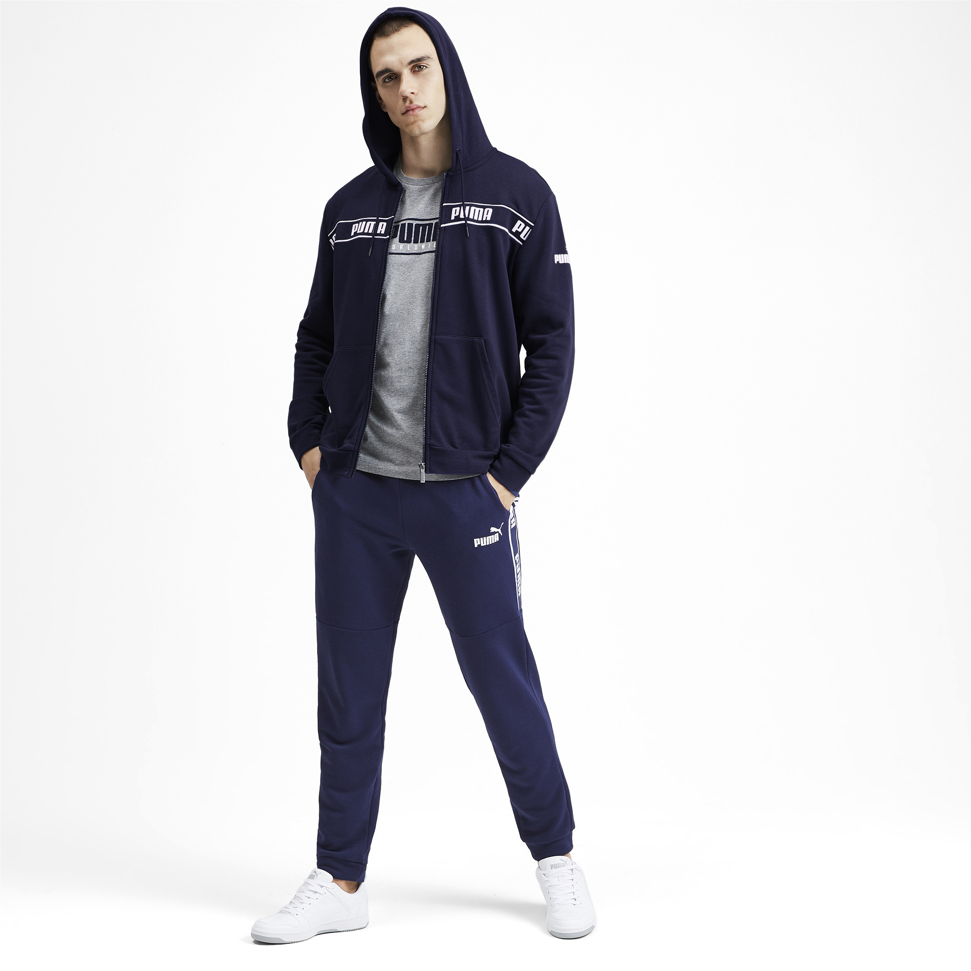 PUMA-Amplified-Men-039-s-Hooded-Jacket-Men-Sweat-Basics thumbnail 6