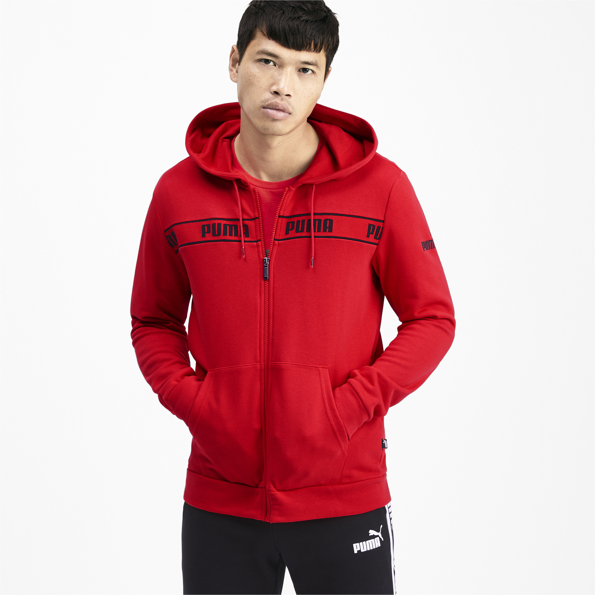 PUMA-Amplified-Men-039-s-Hooded-Jacket-Men-Sweat-Basics thumbnail 23