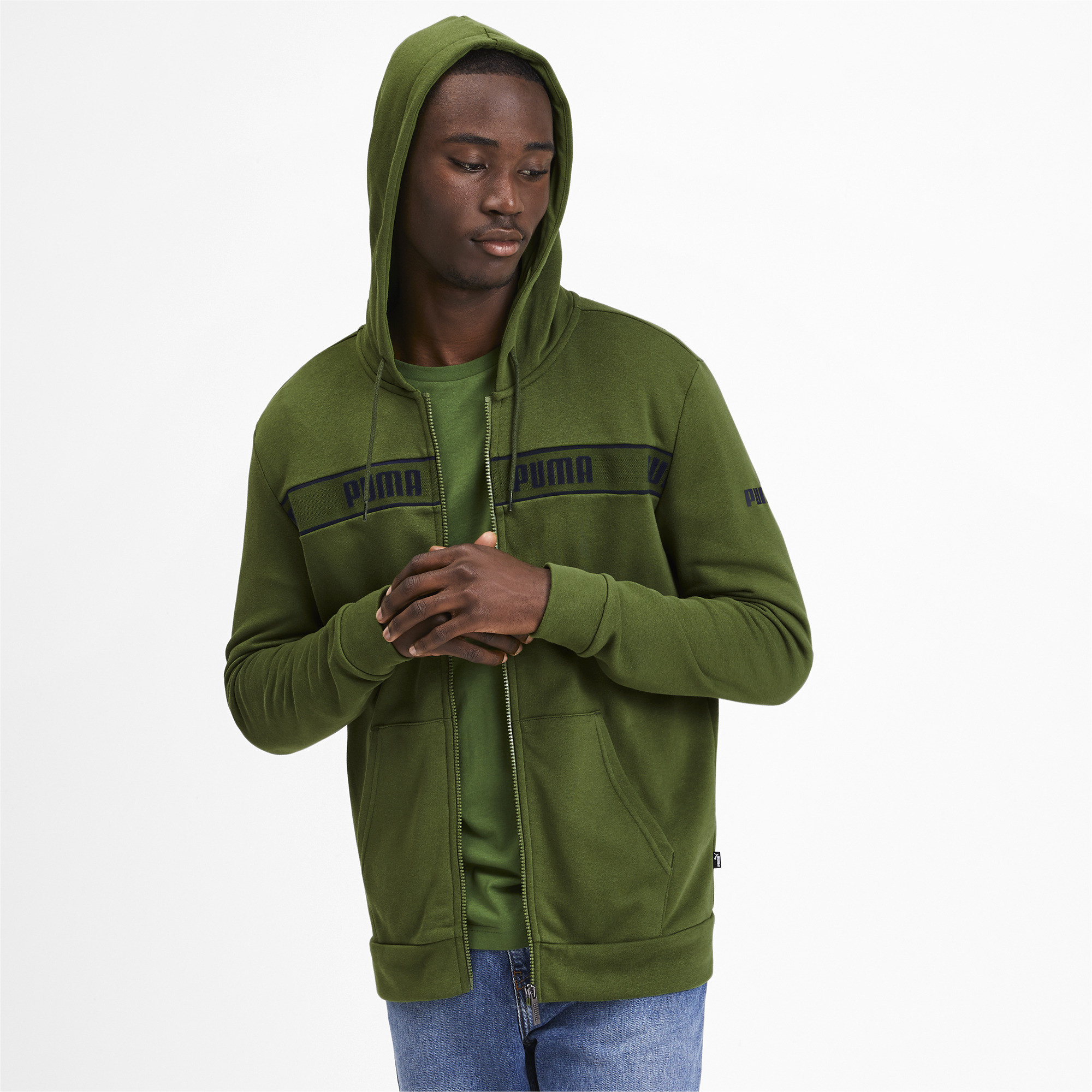 PUMA-Amplified-Men-039-s-Hooded-Jacket-Men-Sweat-Basics thumbnail 18