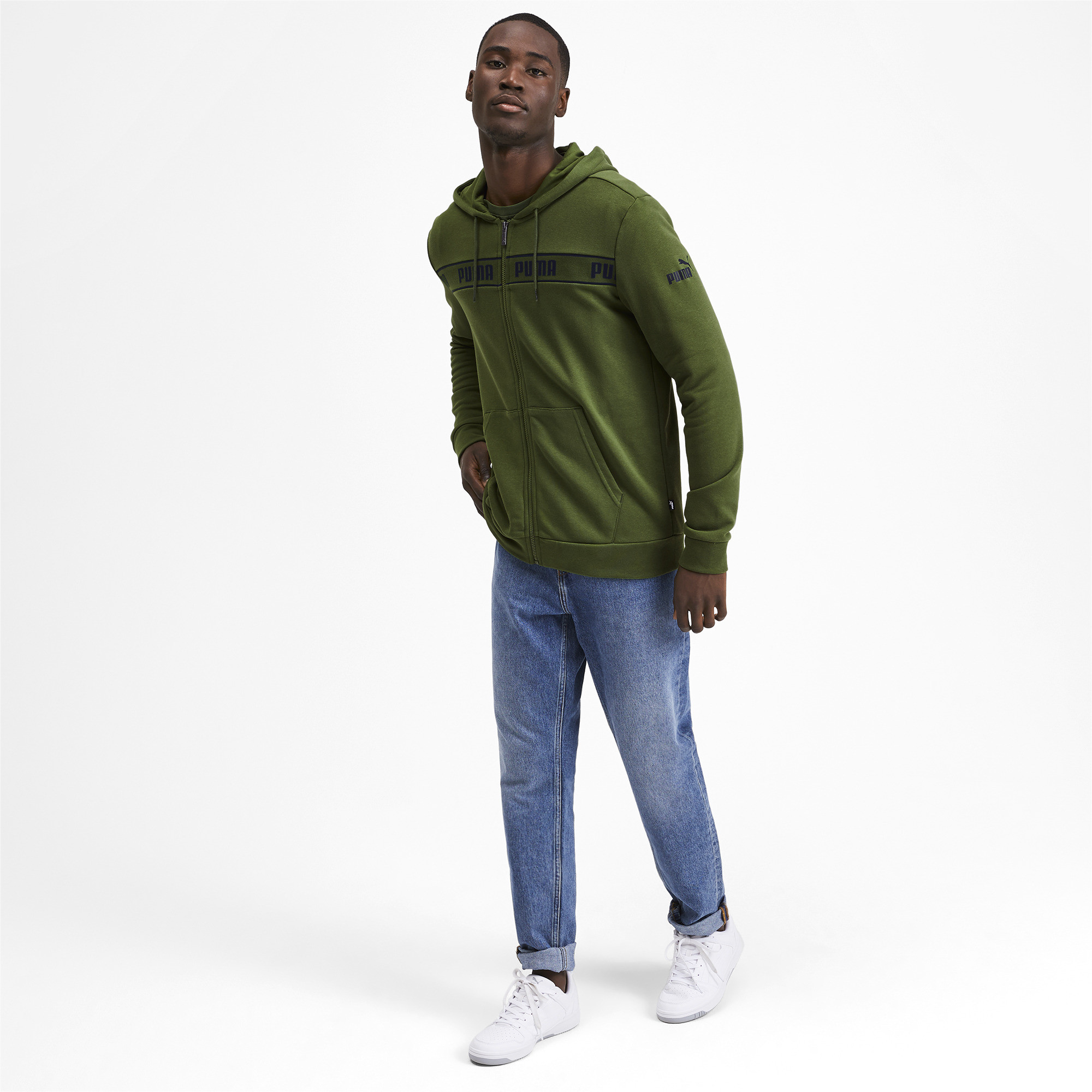 PUMA-Amplified-Men-039-s-Hooded-Jacket-Men-Sweat-Basics thumbnail 20