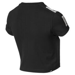 Miniatura 5 de Camiseta ajustada con logo Amplified para mujer, Puma Black, mediano