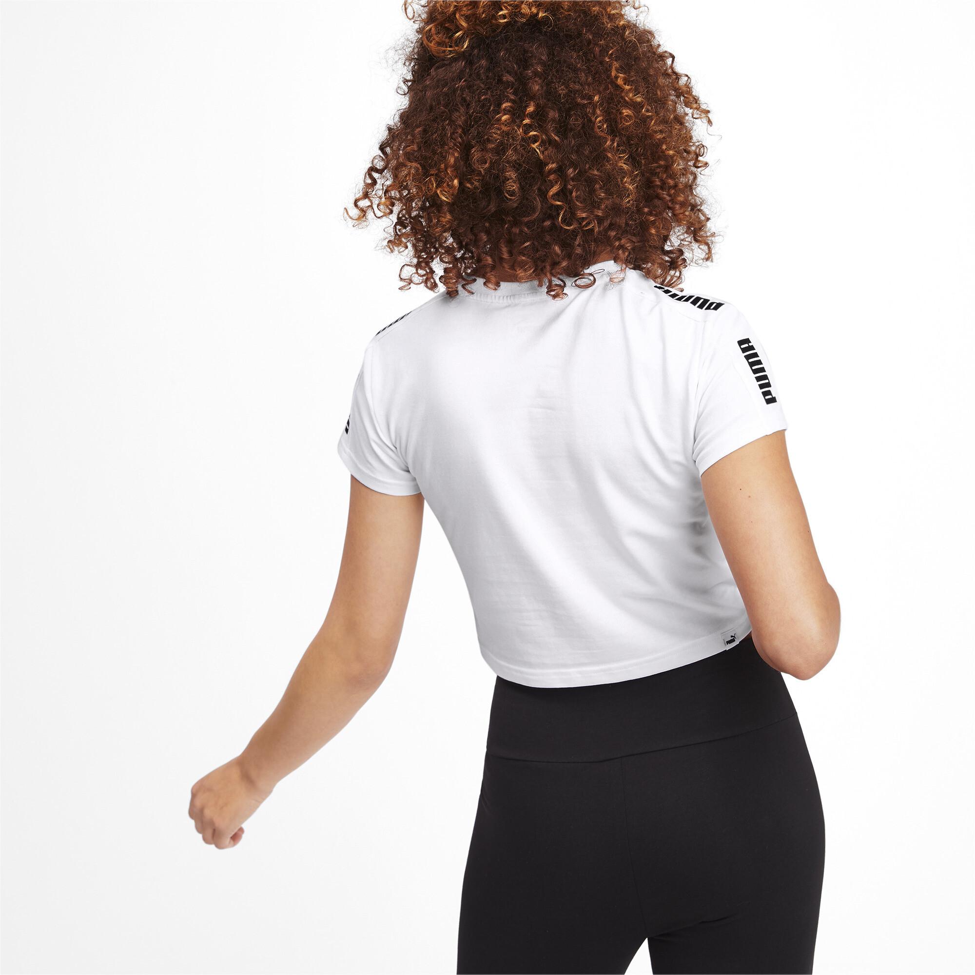 PUMA-Amplified-Women-039-s-Fitted-Logo-Tee-Women-Tee-Basics thumbnail 10