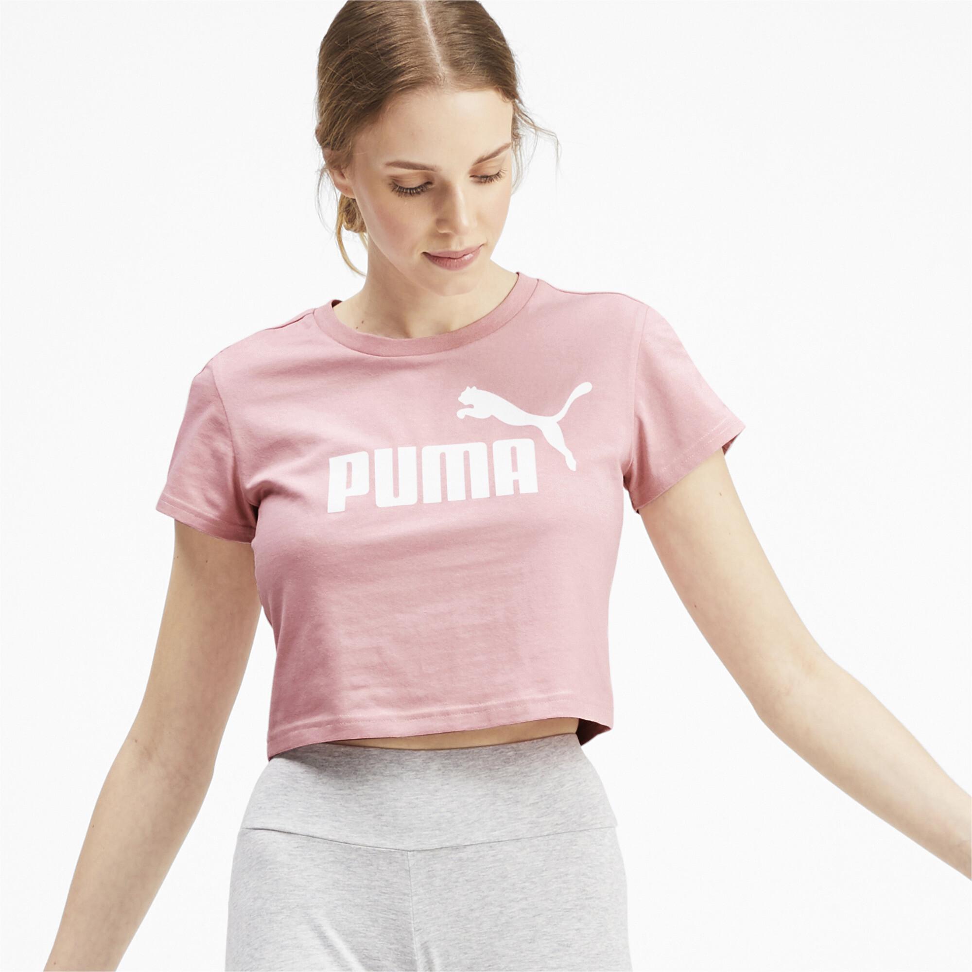 PUMA-Amplified-Women-039-s-Fitted-Logo-Tee-Women-Tee-Basics thumbnail 4