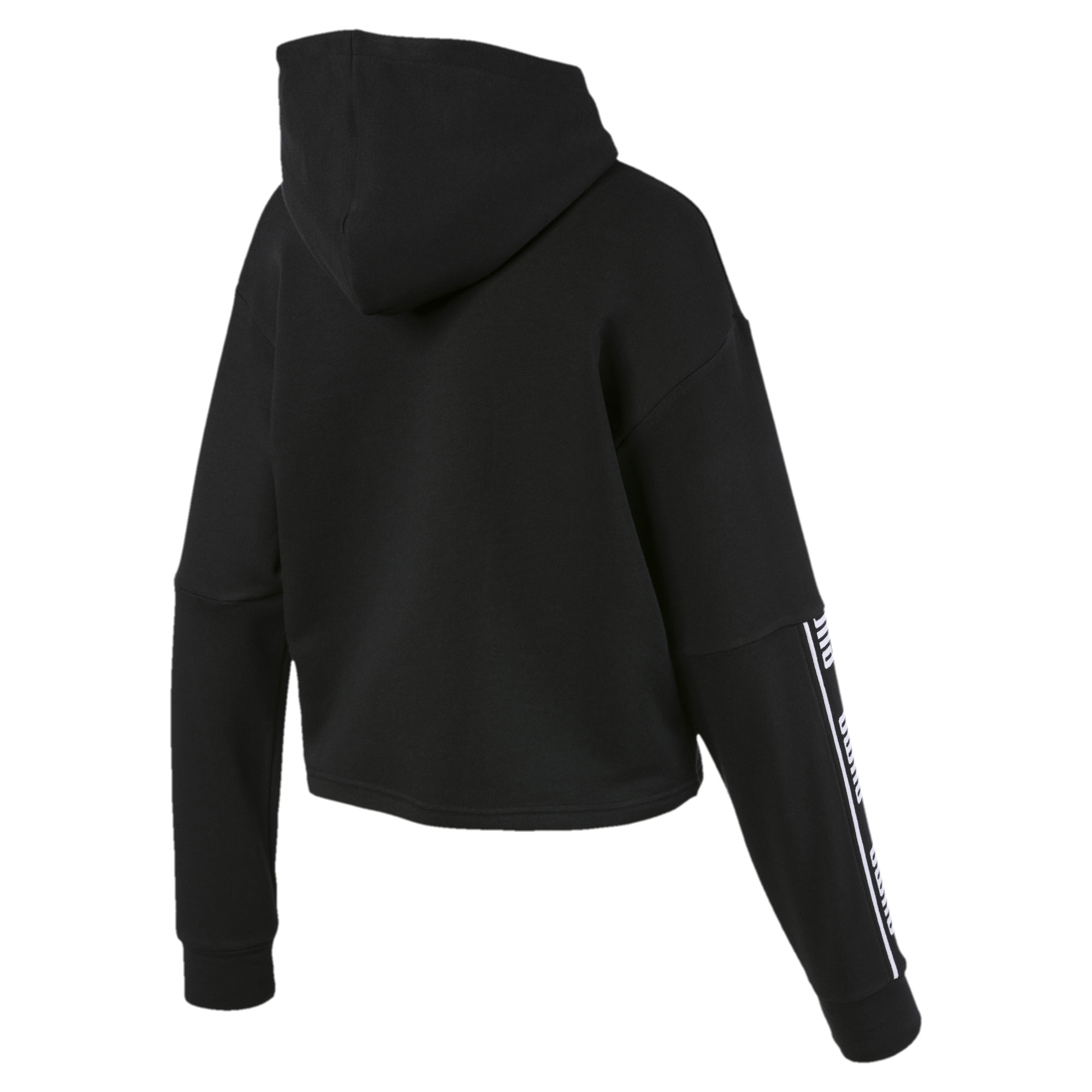 PUMA-Amplified-Women-039-s-Cropped-Hoodie-Women-Sweat-Basics thumbnail 3