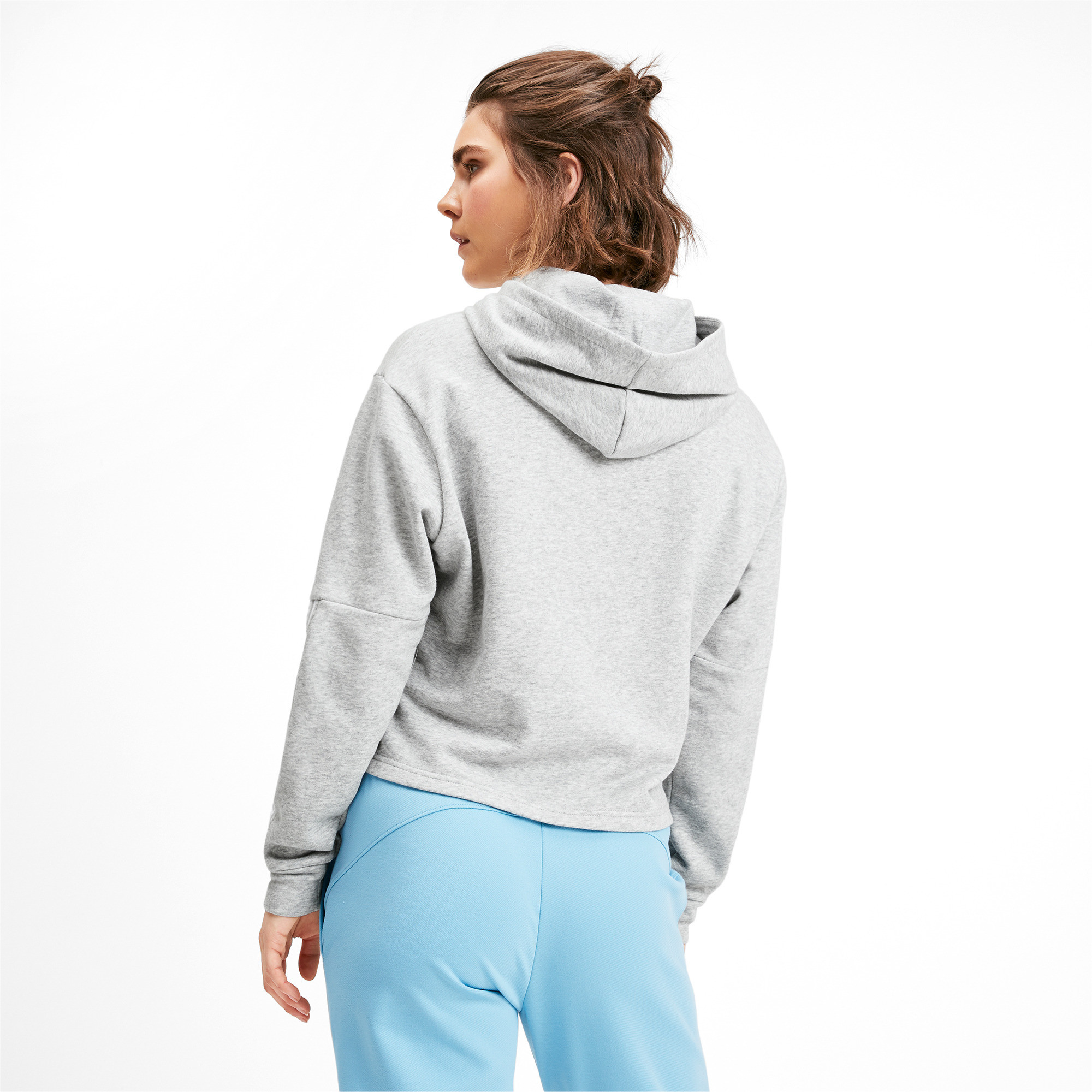 PUMA-Amplified-Women-039-s-Cropped-Hoodie-Women-Sweat-Basics thumbnail 15