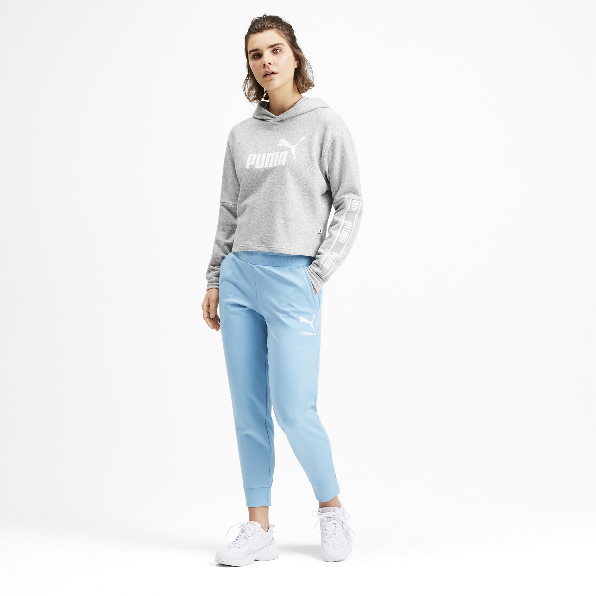 PUMA-Amplified-Women-039-s-Cropped-Hoodie-Women-Sweat-Basics thumbnail 16