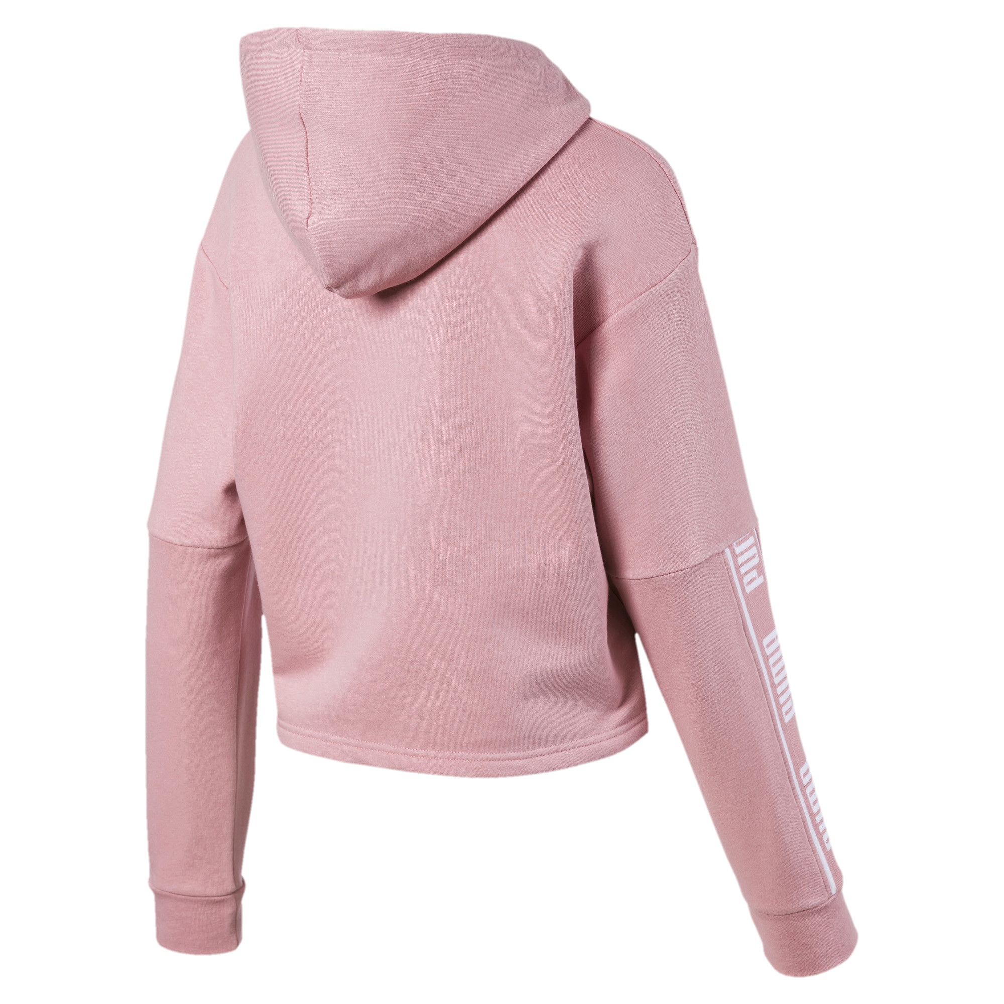 PUMA-Amplified-Women-039-s-Cropped-Hoodie-Women-Sweat-Basics thumbnail 8