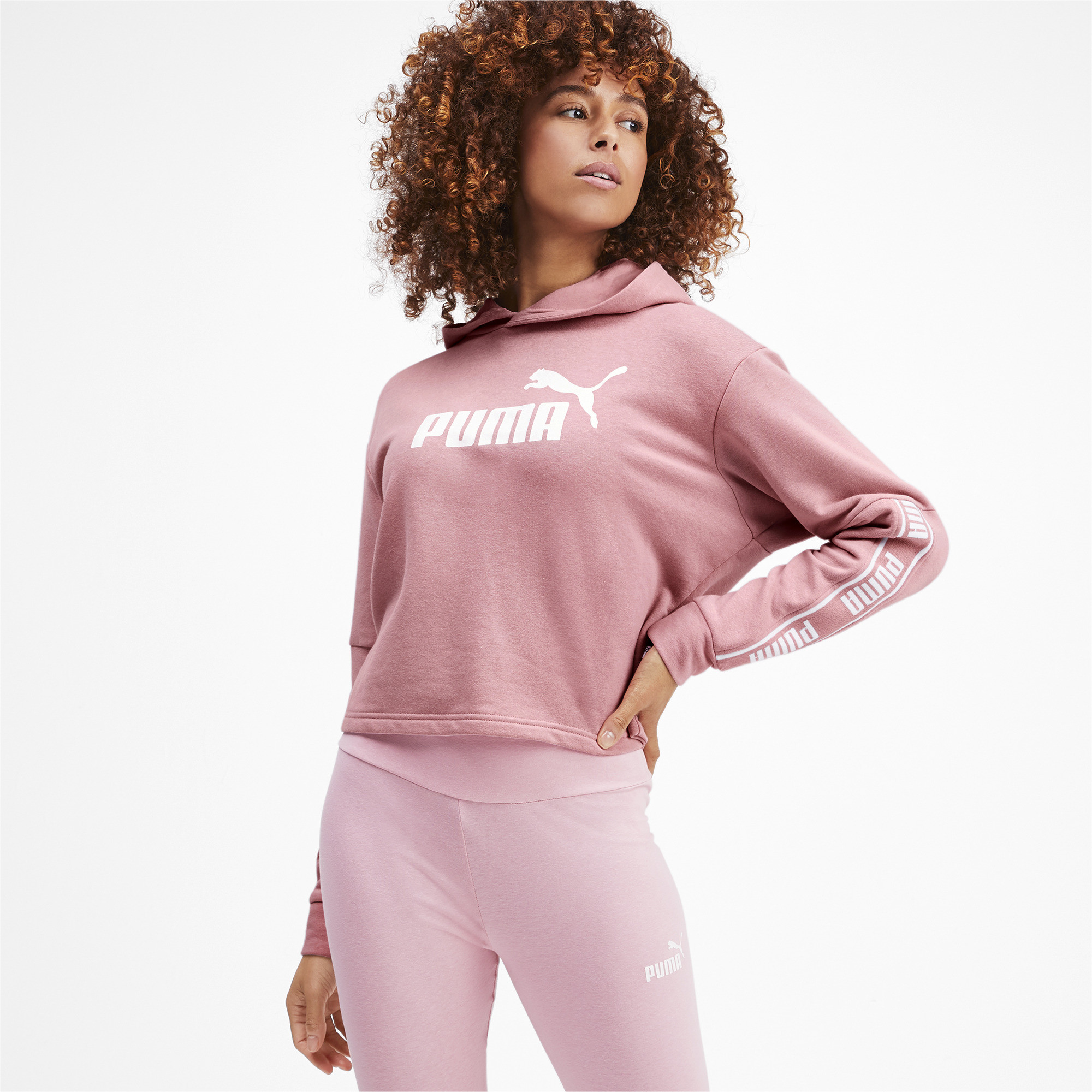 PUMA-Amplified-Women-039-s-Cropped-Hoodie-Women-Sweat-Basics thumbnail 9