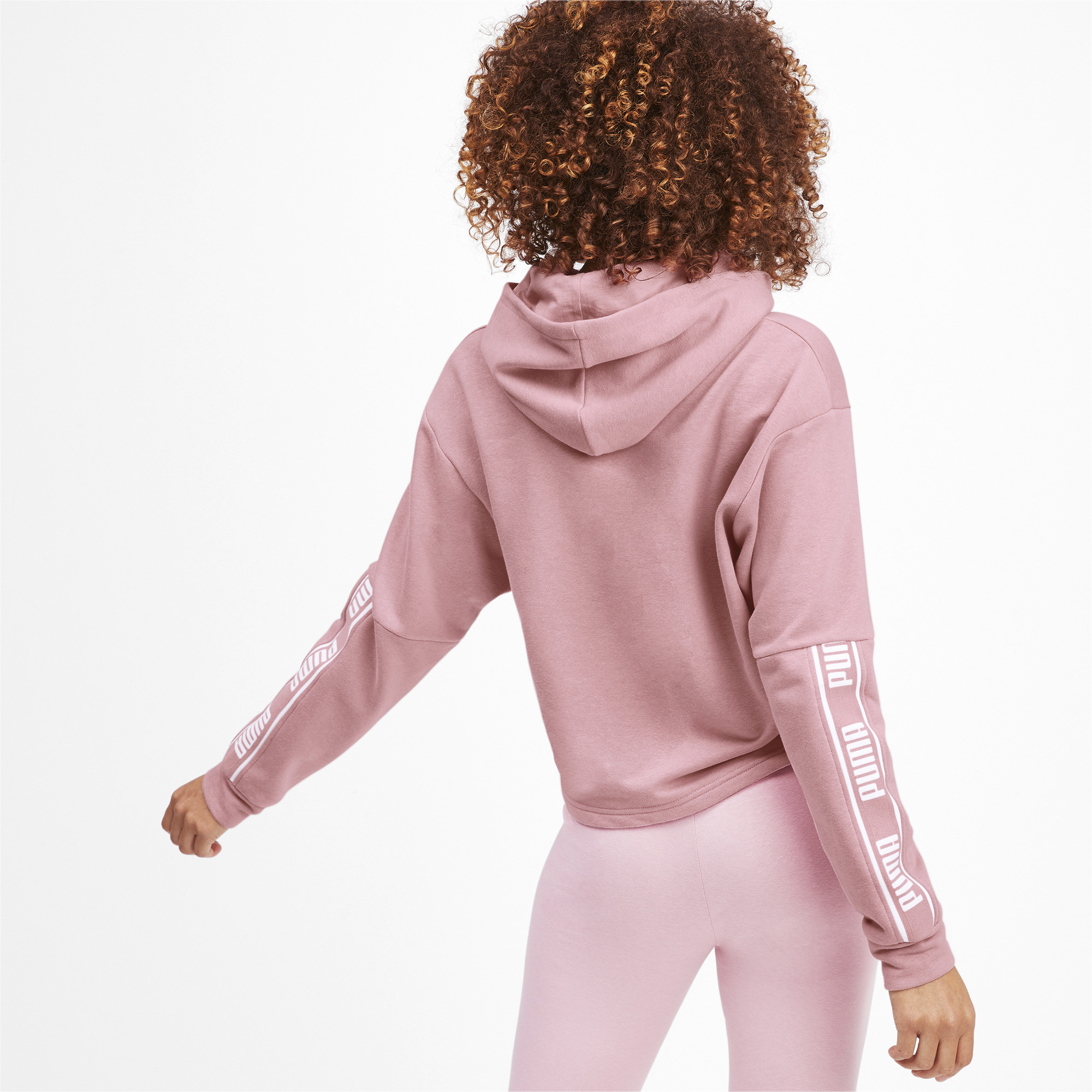PUMA-Amplified-Women-039-s-Cropped-Hoodie-Women-Sweat-Basics thumbnail 10