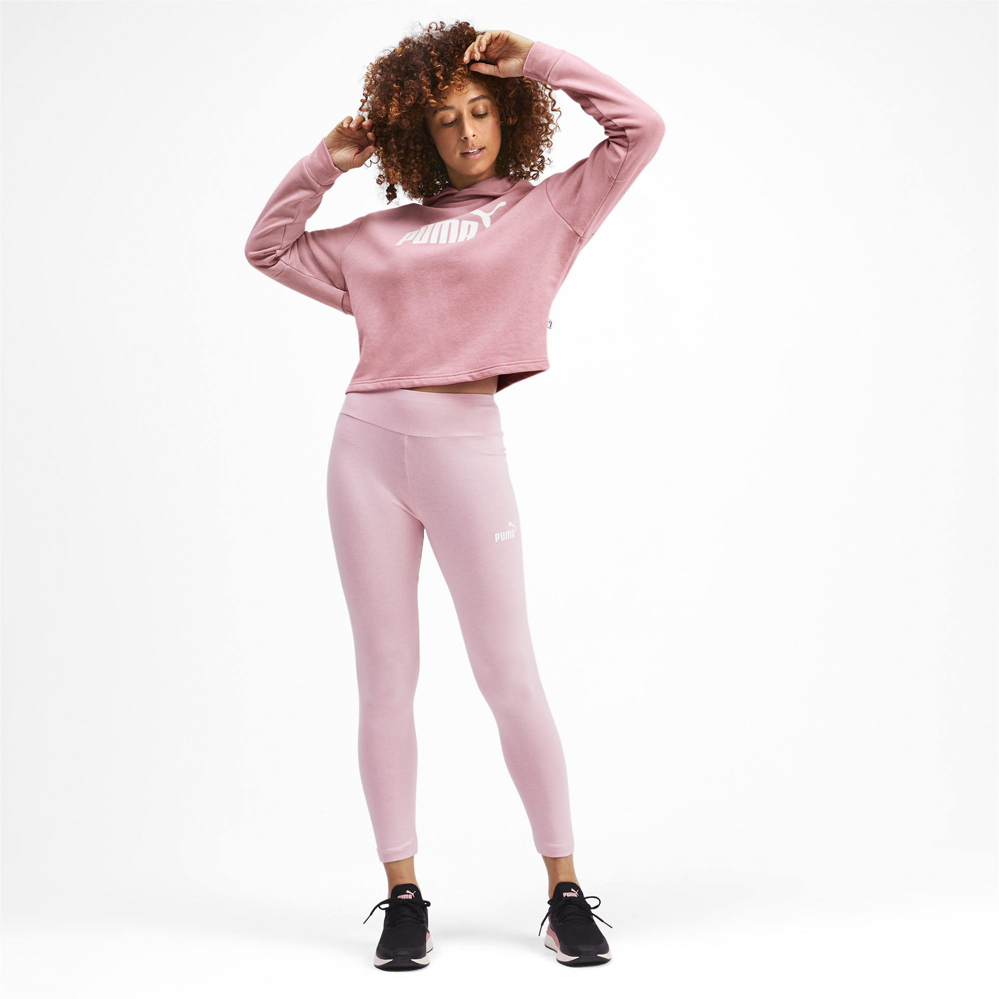 PUMA-Amplified-Women-039-s-Cropped-Hoodie-Women-Sweat-Basics thumbnail 11
