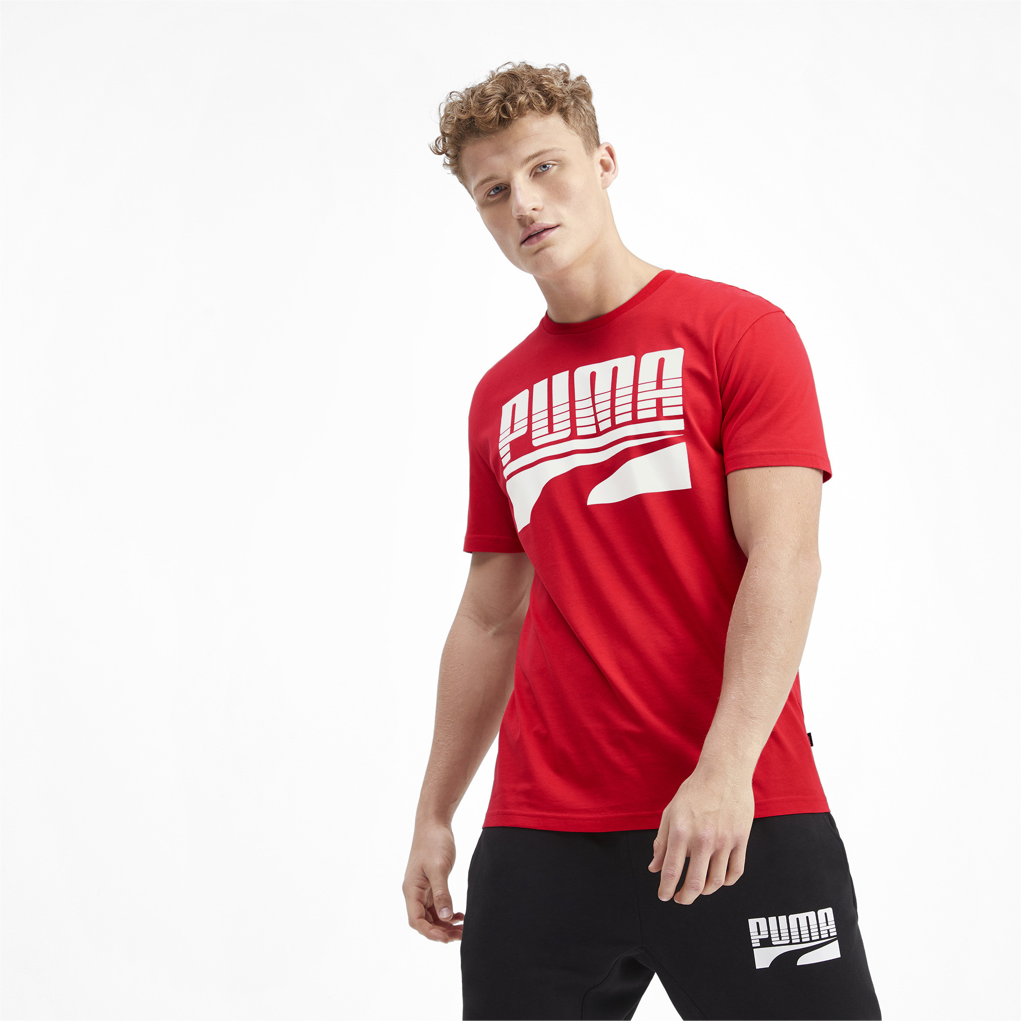 PUMA-Rebel-Bold-Men-039-s-Tee-Men-Tee-Basics thumbnail 4
