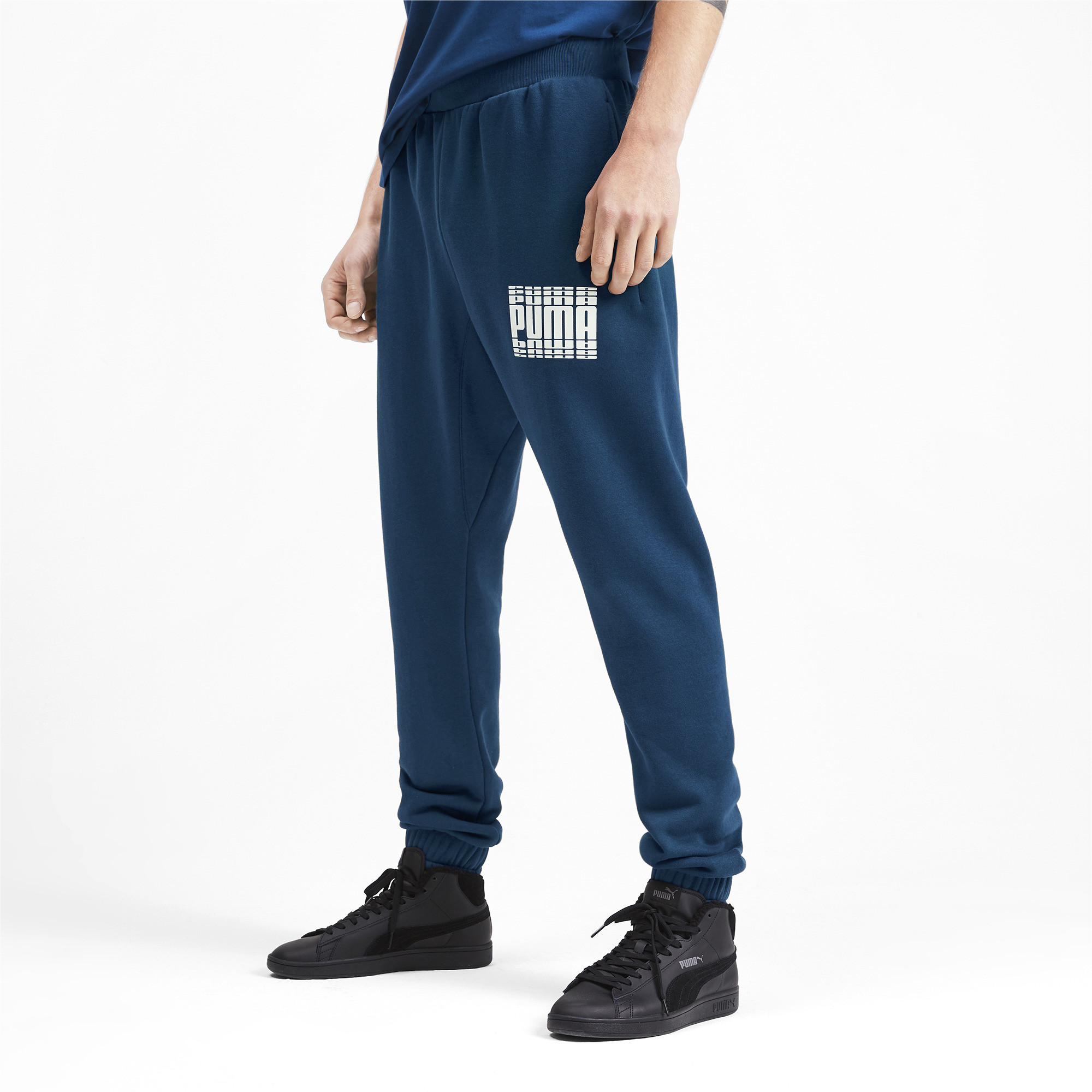 PUMA-Rebel-Bold-Men-039-s-Sweatpants-Men-Knitted-Pants-Basics thumbnail 4